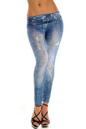 jeans print legging jackilyn, skinny, middel getailleerd blauw