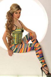 blokken & strepen print legging, digitaal, lolliepop