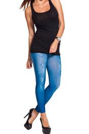 jeans print legging, skinny, denim, vintage blauw