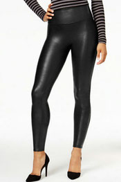 imitatieleer legging ingrid, hooggetailleerd, lederlook zwart