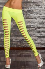 street & sexy stijl legging, hoog getailleerd, scheuren voorzijde zwart