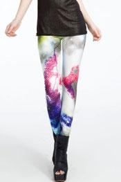 galaxy print legging, combinatie van veel kleuren