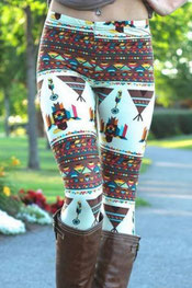 patroon print legging pipy, indiaan