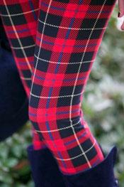blokken & strepen print leggings