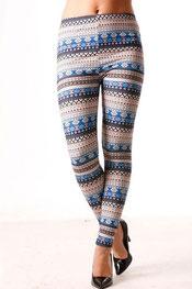 patroon print legging peternella,
