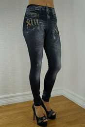 jeans print legging jacquelin, skinny, denim, true rock zwart