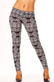 patroon print legging phoebe
