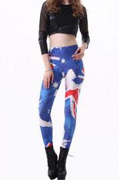 vlaggen print legging australië