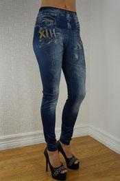 jeans print legging, skinny, denim, true rock blauw