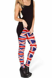 vlaggen print leggings