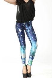galaxy print legging, sterrennacht print