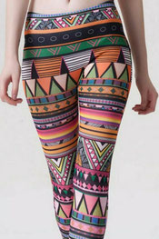 patroon print legging pagan,
