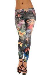 print design legging pennie, vlinder meisje zwart