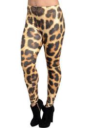 dieren print legging daana, luipaard print blauw