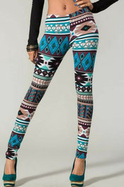 patroon print leggings