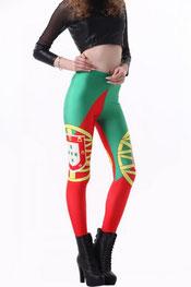 vlaggen print legging portugal