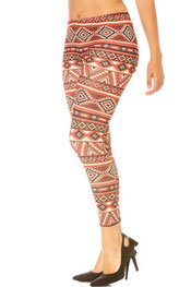 patroon print legging phoenixx, zigzag