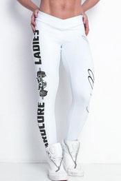 sport & vrijetijd legging, hardcore ladies, labell wit