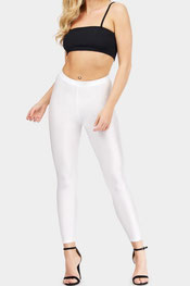 metallic legging zilver