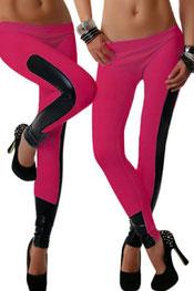 imitatieleer legging, hoog getailleerd, glanzend zwart