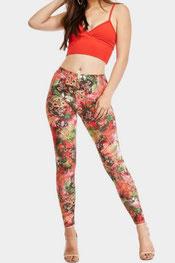 bloemen print legging kleurvol