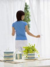 洗濯物に花粉症対策