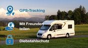 GPS Tracking im Wohnmobil. Ein Tracker erstellt nicht nur unsere Route ....