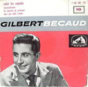 Pochette 45 tours Gilbert Bécaud