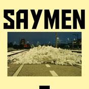 Schweizer Rap Song der gesellschaftskritisch ist. Auf dem Bild sind die Buschstaben Saymen und eine mit Schnee gesperrte Strasse.