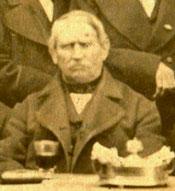 Der Lotzdorfer Ablösungskommissar und Abgeordnete, Freigutsbesitzer Wilhelm August Ernst Haden (1800-1882). Foto etwa 1873.