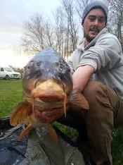 Pêcher la carpe à Bouxier et Mont vue de poisson