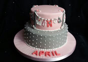 Grey & Pink Baby Shower cake