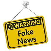 """Petit panneau """"Warning Fake News"""""""