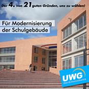 Für Modernisierung der Schulgebäude - Der 4. von 21 guten Gründen, uns zu wählen