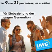 Für Einbeziehung der jungen Generation - Der 9. von 21 guten Gründen, uns zu wählen
