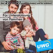 Für Unterstützung von Familien - Der 21. von 21 guten Gründen, uns zu wählen