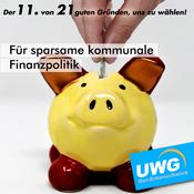 Für sparsame kommunale Finanzpolitik - Der 11. von 21 guten Gründen, uns zu wählen