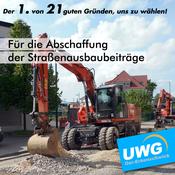 Für die Abschaffung der Straßenausbaubeiträge - Der 1. von 21 guten Gründen, uns zu wählen