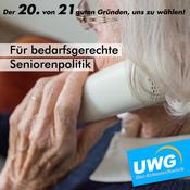 Für bedarfsgerechte Seniorenpolitik - Der 20. von 21 guten Gründen, uns zu wählen