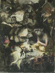 """Boten"", Aquarell und Tusche, A4, 2012"