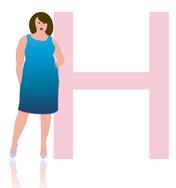 H-Typ , große Größen , Oberteile ab Größe 46 , Mode für kurvernreiche Frauen