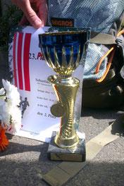 2. Platz Gesamt von Sebastian E. beim Pfaffenberglauf über 9,7km