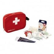 Matériel de club pour soins sportifs : sacs et valises 1er secours, bandes, gels chaud/froid pour le football, rugby, basket-ball, handball