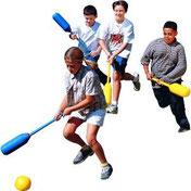 Jeux de sports collectifs pour les enfants des écoles scolaires primaires : hockey, kin-ball, basket-ball, football...