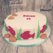 #Torte #Unterwasserwelt #Fische
