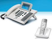 Weisse Telefone - Mit und ohne Kabel