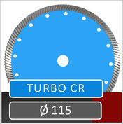 slijpschijf turbo cr diameter 115 voor gebruik op haakse slijper
