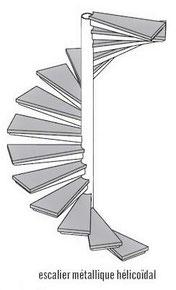Fabrication escalier sur mesure quart tournant  - Métal Bois Design
