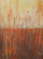 Mohnblumen I , Mischtechnik auf Leinwand, 60 x 80 cm, 2006