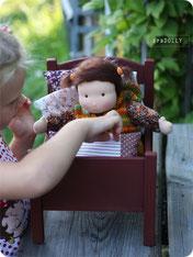 купить кроватку для куклы из дерева